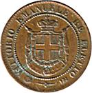 2 Centesimi - Vittorio Emanuele II – obverse