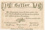 10 Heller (Unter-Loiben) -  reverse