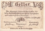 20 Heller (Unter-Loiben) – reverse