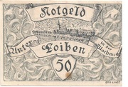 50 Heller (Unter-Loiben) – obverse