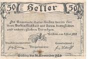 50 Heller (Unter-Loiben) – reverse