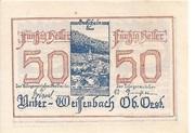50 Heller (Unter-Weißenbach) -  obverse