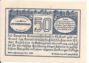50 Heller (Unter-Weißenbach) -  reverse