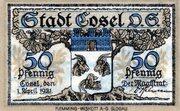 50 Pfennig (Cosel) – obverse