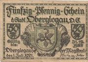 50 Pfennig (Oberglogau) – obverse