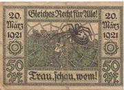 50 Pfennig (Oberglogau) – reverse