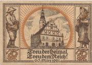 75 Pfennig (Oberglogau) – reverse