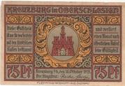 75 Pfennig (Kreuzburg) – obverse