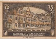 75 Pfennig (Kreuzburg) – reverse