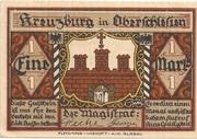 1 Mark (Kreuzburg) – obverse