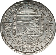 1 Thaler - Archduke Ferdinand II of Tyrol – reverse
