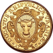 Ducat (Trade coinage) – obverse