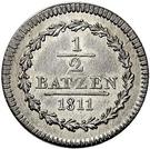 ½ Batzen – reverse