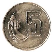 5 Nuevos Pesos -  reverse