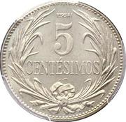 5 Centésimos (Essai) – reverse