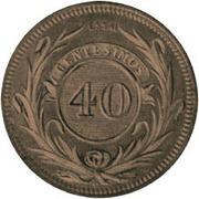 40 Centésimos de Real (Essai) – reverse