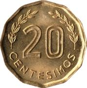 20 Centésimos -  reverse