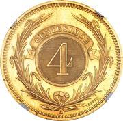 4 Centesimos (Pattern) – reverse