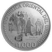 1000 Pesos Uruguayos (Independence) -  obverse