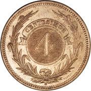 4 Centésimos – reverse