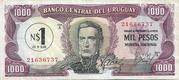 1 Nuevo Peso (Overprinted on 1 000 Pesos) – obverse