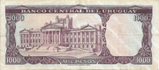 1 Nuevo Peso (Overprinted on 1 000 Pesos) – reverse