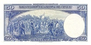 50 Pesos (Law of Jan. 2nd., 1939) – reverse