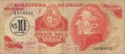 10 Nuevos Pesos (Overprinted on 10 000 Pesos) -  obverse