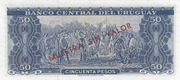 0.05 Nuevo Peso (Not overprinted issue) -  reverse