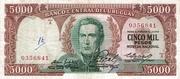 5 000 Pesos – obverse
