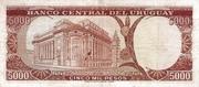 5 000 Pesos – reverse