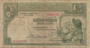 5 Pesos (Law of Aug. 14th., 1935) – obverse