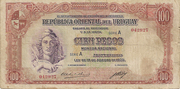 100 Pesos (Law of Aug. 14th., 1935) – obverse