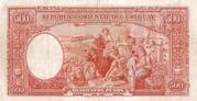 500 Pesos (Law of Aug. 14th., 1935) – reverse