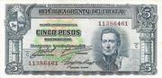 5 Pesos (Law of Jan. 2nd., 1939) – obverse