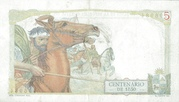 5 Pesos (Constitution Centennial) – reverse