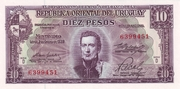 10 Pesos (Law of Jan 2nd., 1939 - Issued by BCU) – obverse
