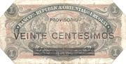 20 Centésimos (Provisional) – reverse