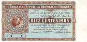 10 Centésimos (Not issued) – obverse