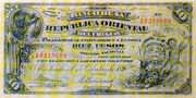 10 Pesos (Provisional) – obverse