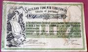 10 Pesos (Sociedad de Fomento Territorial) – obverse