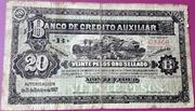 20 Pesos (Banco de Crédito Auxiliar) – obverse