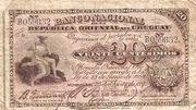 20 Centésimos (Banco Nacional) – obverse