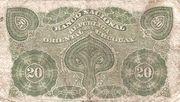 20 Centésimos (Banco Nacional) – reverse
