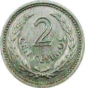 2 Centesimos (Pattern) – reverse