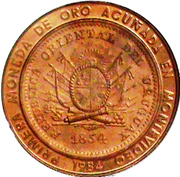 20 000 Nuevos Pesos (Gold coinage and BID Meeting; Piedfort issue) -  obverse