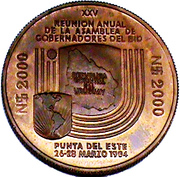 2000 Nuevos Pesos (BID Meeting; Trial strike) -  reverse