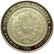 2000 Nuevos Pesos (Silver coinage and BID Meeting; Trial strike) -  obverse