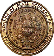 2000 Nuevos Pesos (Silver coinage and BID Meeting; Trial strike) -  obverse