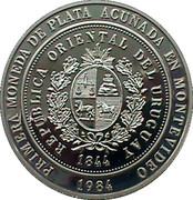 2000 Nuevos Pesos (Silver coinage and BID Meeting) -  obverse
